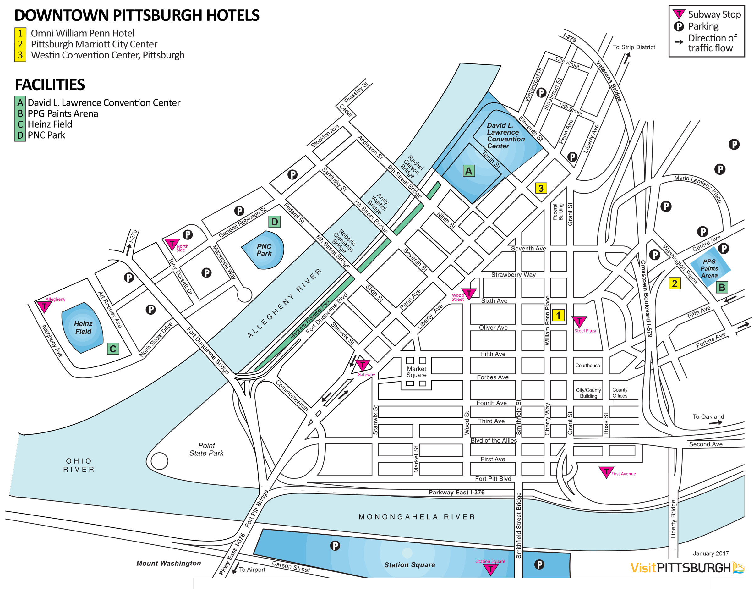 Downtown Pittsburgh Hotels Map Rouydadnews Info