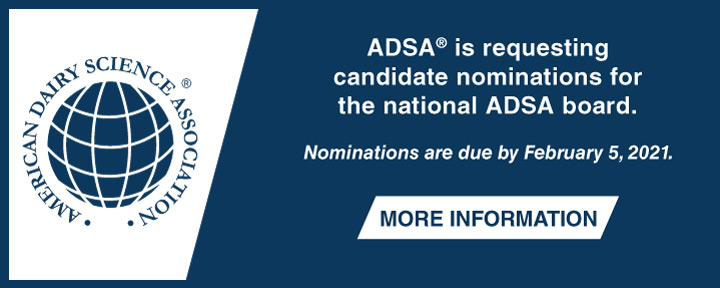 ADSA® is requesting candidate nominations for the national ADSA board.